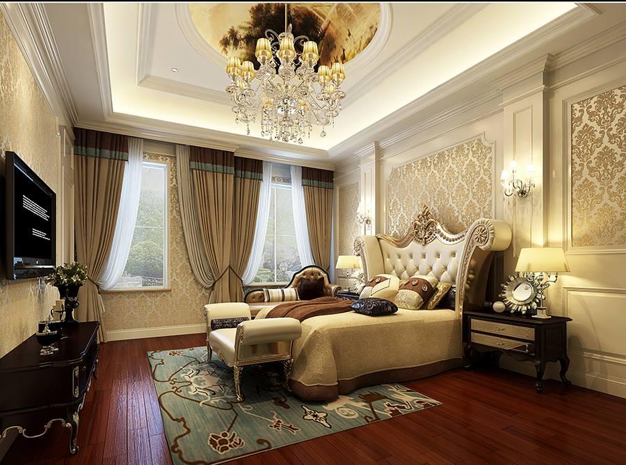 保利霞飞郡别墅装修设计案例-欧式风格-杭州尚层装饰