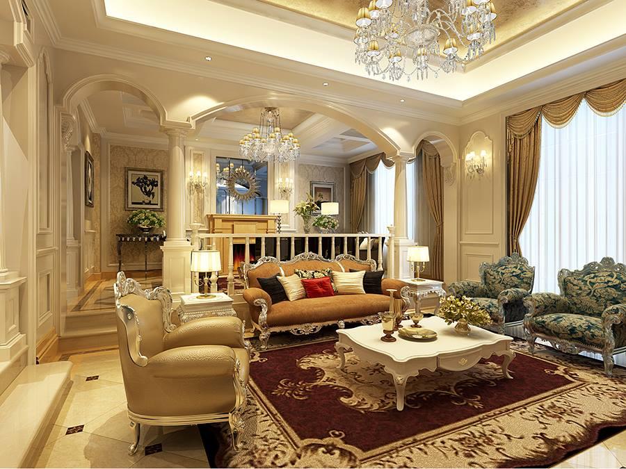 楼盘 :保利霞飞郡 面积 :340方 风格 : 欧式 本次别墅装修设计的客厅在进行装潢别墅设计的时候,家具选配,通常采用宽大精美的家具,配以精致的雕刻,整体营造出一种华丽、高贵、温馨的欧式稳重感。从精致的椅背、雕花就能够看得出业主是非常考究的,这也是业主所追求的风格。