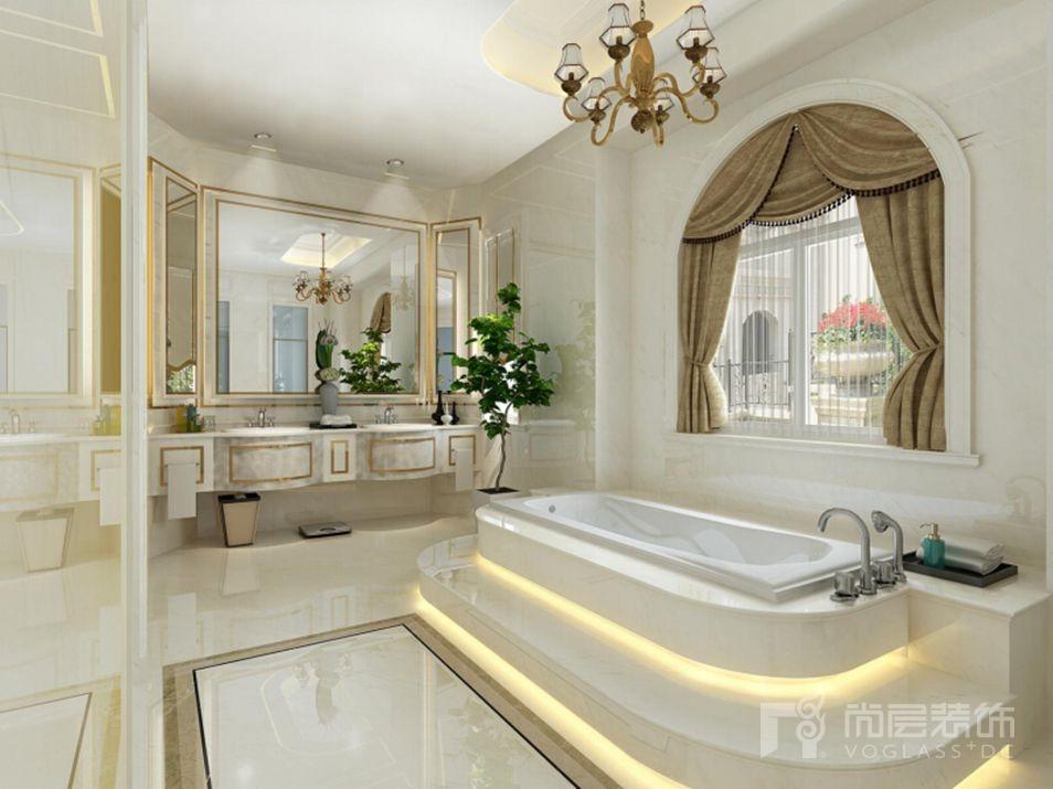 """别墅装修女儿卫生间设计主题为""""梦幻海洋"""""""