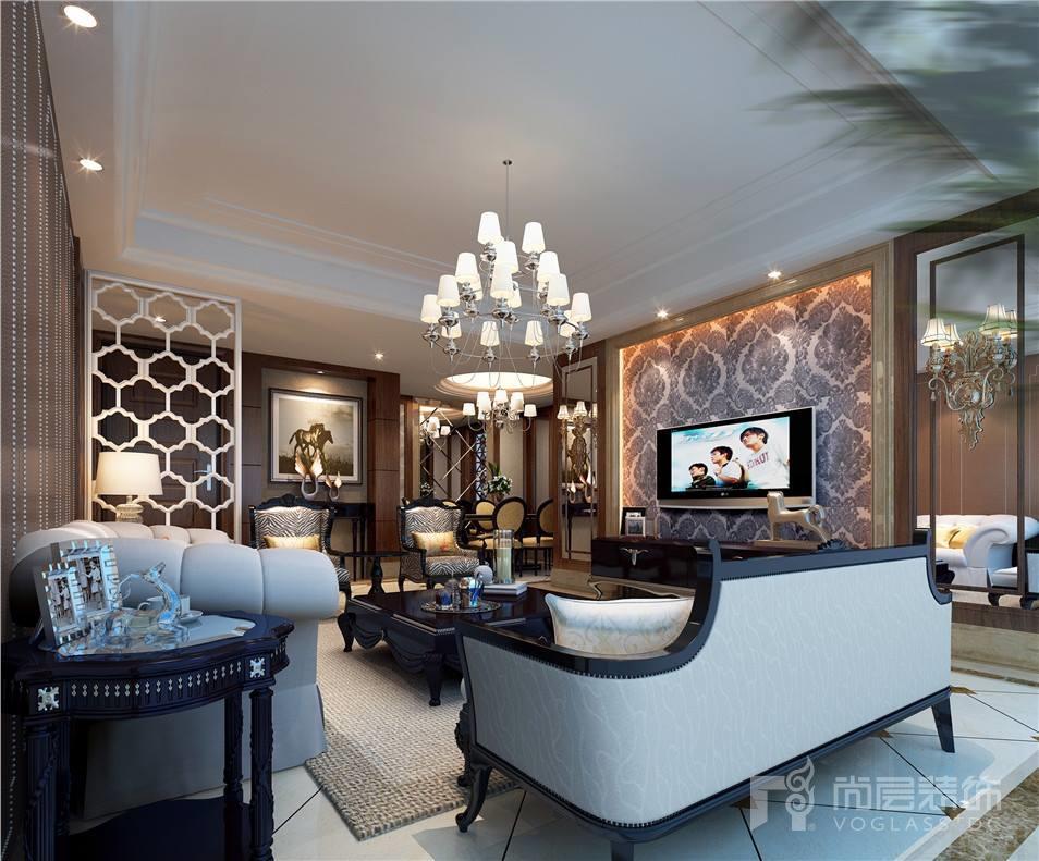 苏州仁恒海和院330平新古典风格别墅装修案例