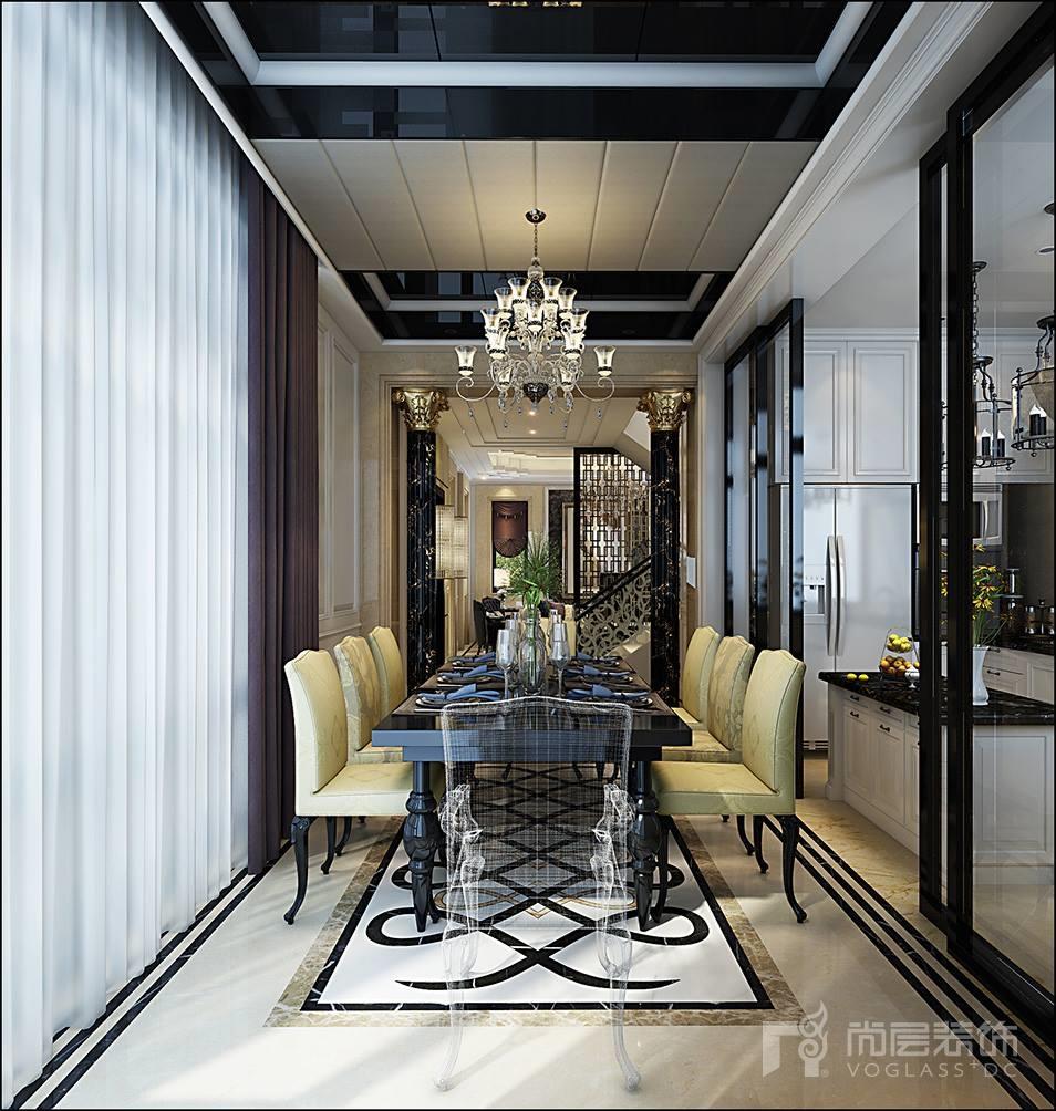 苏州仁恒海和院350平新古典风格别墅装修案例