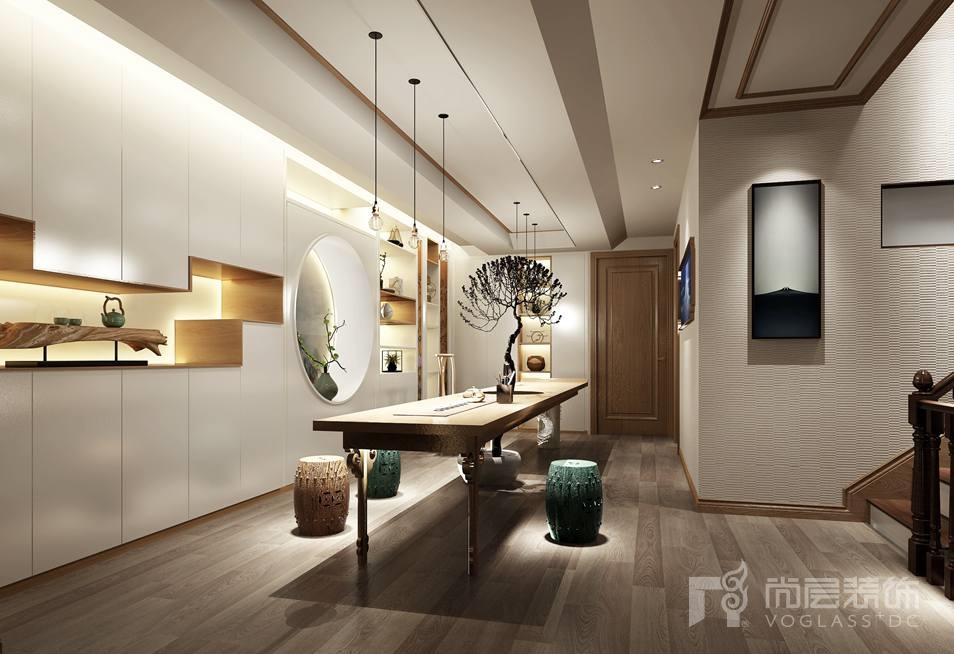 徜徉墅新中式书房别墅装修效果图图片