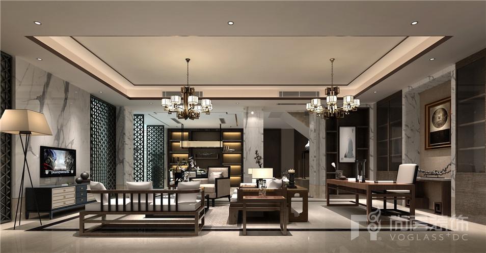 苏州黄金水岸中式风格家庭室效果图