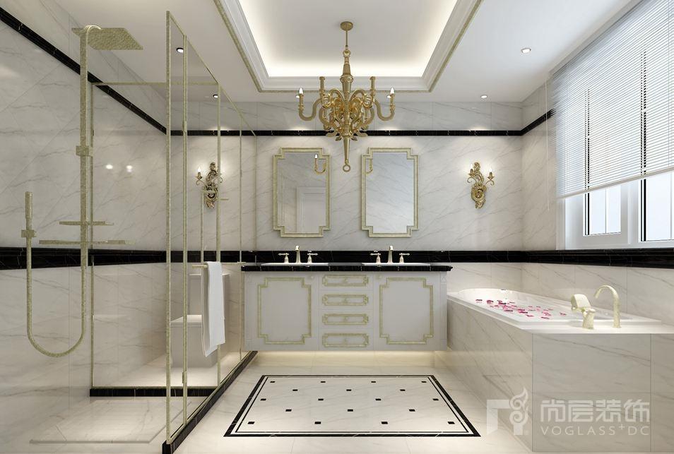 装饰的风格是人文品味生活的体现,设计师根据业主的生活需求,将浪漫、现代和古典相互融合,淬炼其中轻奢的美,本案例是设计师的鲁能七号院别墅装修项目。 客厅 挑空的空间加之腰线的设计,增加了空间的层次感,设计师将边窗设计成观景台,使得客厅成为一个休憩的绝佳之地,另外还将二楼的地面做了延伸,既增加了餐厅空间,也为孩子娱乐创造了一片天地。