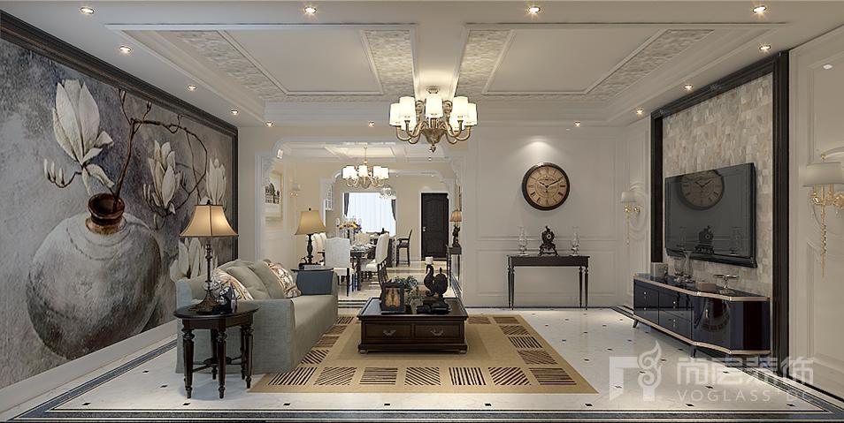 西山意境客厅欧式别墅装修效果图