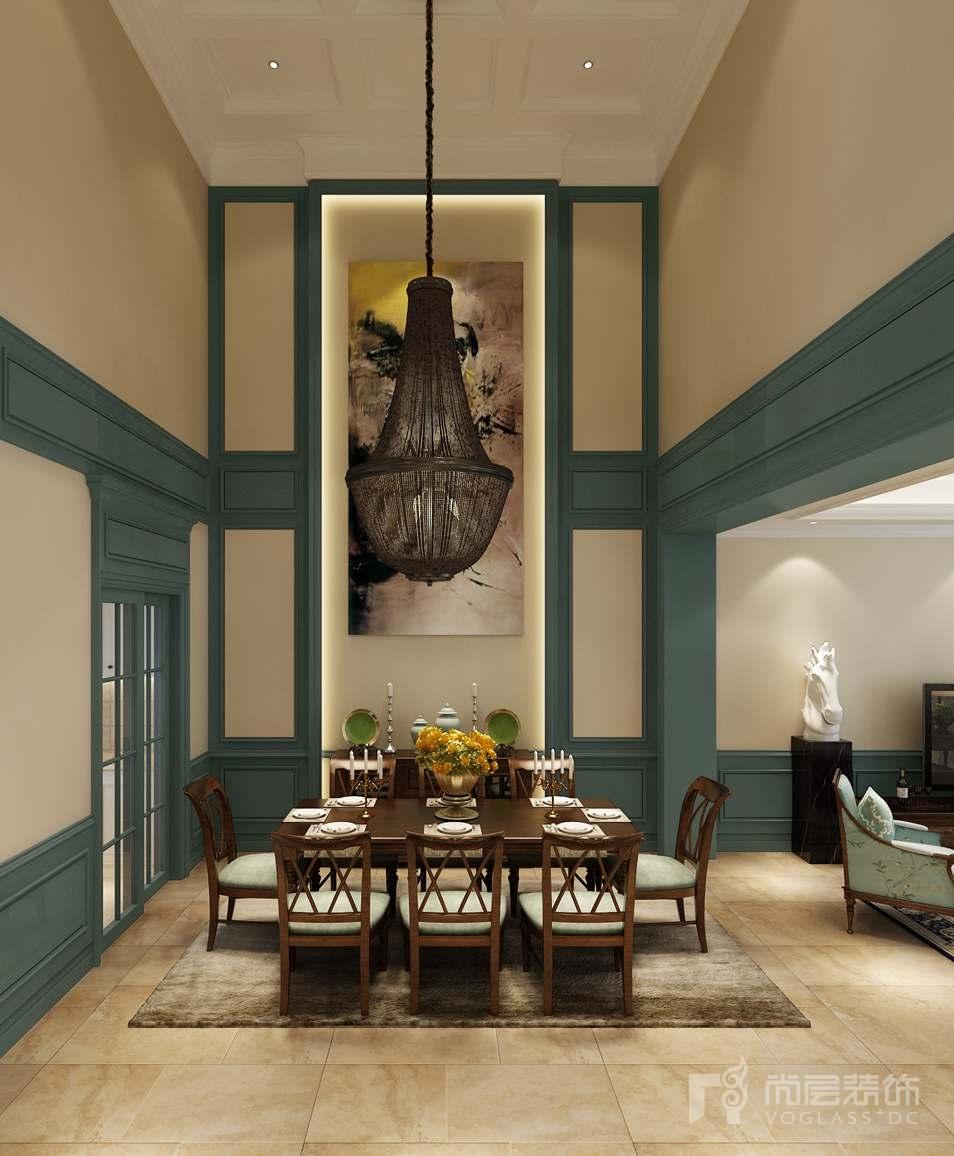 泷悦长安美式餐厅别墅装修效果图图片