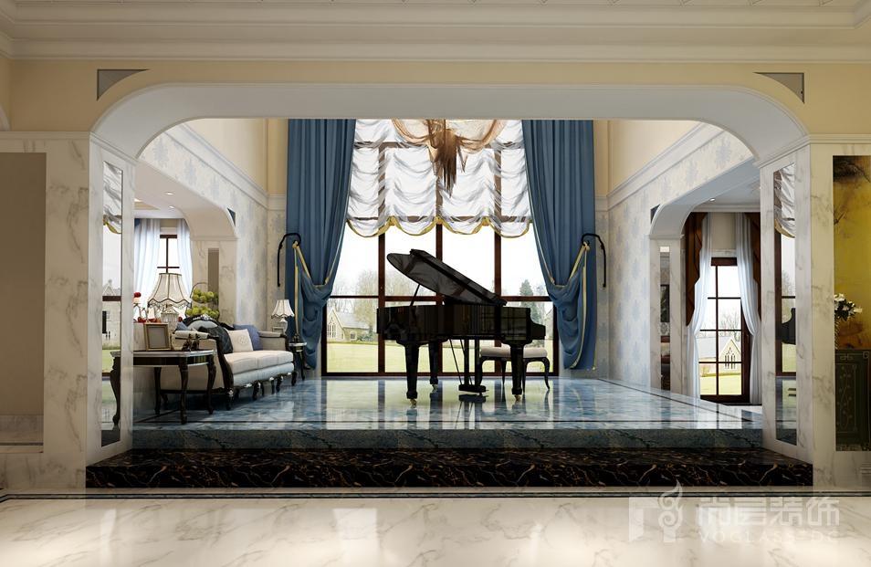 红橡墅欧式新古典钢琴区别墅装修效果图