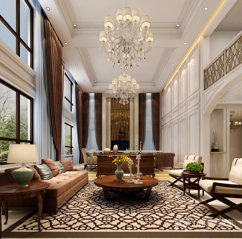 主臥采用簡約歐式別墅裝修風格慣用的白色,墻上藝術畫和咖啡色床品大大提升了對比效果,尊貴的同時還增添了幾分現代感,無不時刻給居住著帶來品質居所的奢華感和匯聚世界潮流前端文化的都會情節。