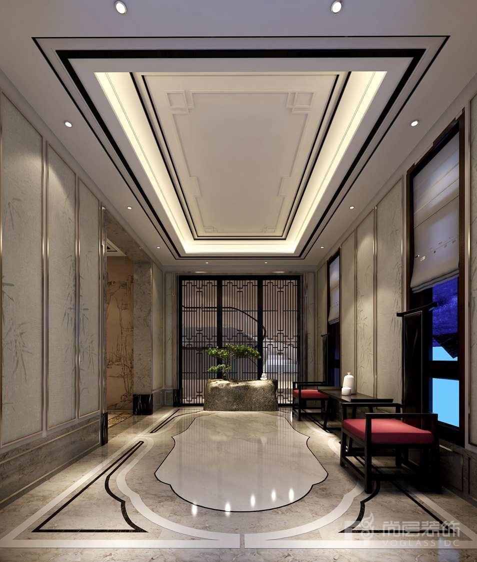 棕榈滩新中式门厅别墅装修效果图