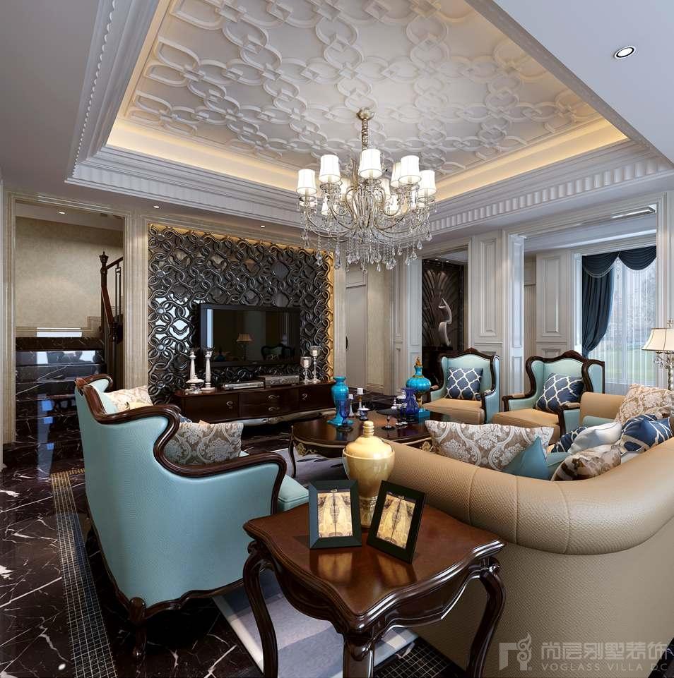 别墅装修本案玄关的设计中采用美式的纯白护墙板和具有现代化的地砖来