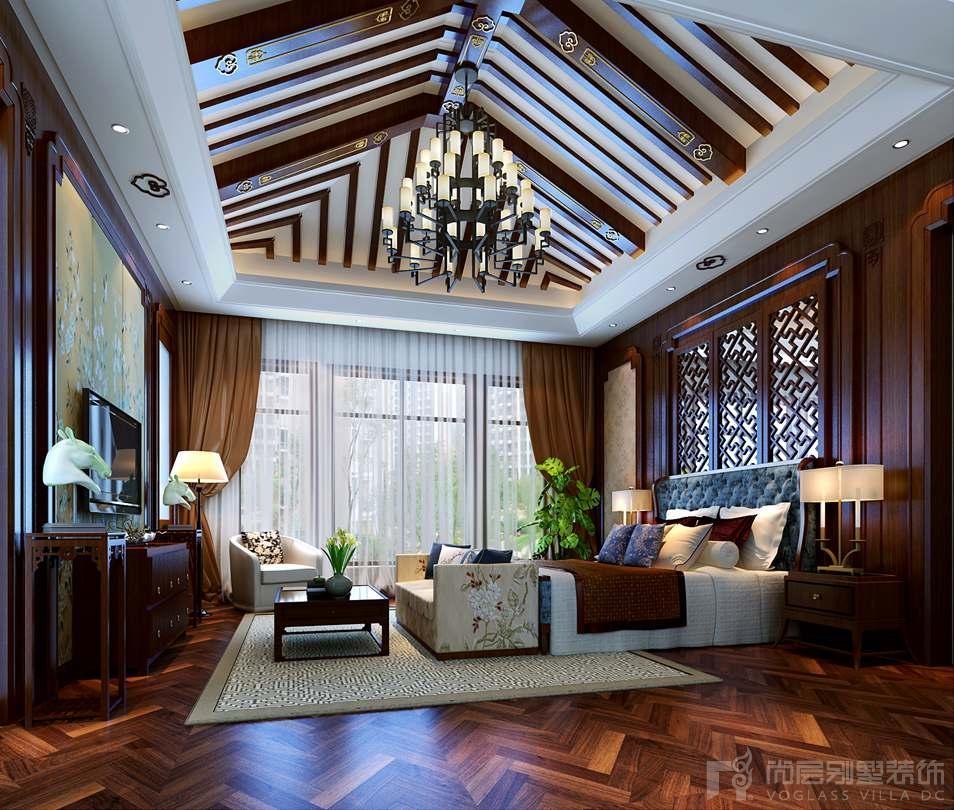 卧室家具是运用了典型的红木家具