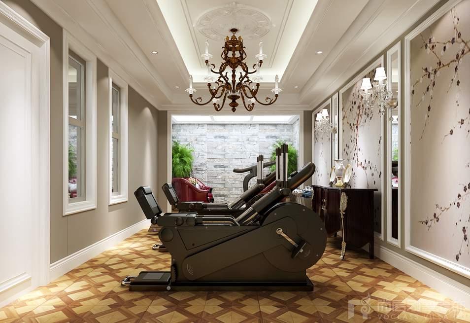 ,别墅装修以典雅华贵气质为主。色彩上,运用明黄、米白等古典常用色来渲染空间氛围,营造出富丽堂皇的效果。在材质上,采用仿古地砖、欧式壁纸、大理石等,强调了稳重、华贵与舒适。整体空间气势恢宏、典雅大气别墅装修。别墅装修客厅空间中采用淡黄色和白色相铺相成的搭配,整体的色彩相差不大,整体氛围给人以明亮、优雅、平和的气韵。
