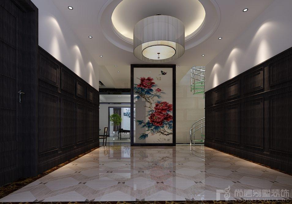 藍園新中式門廳別墅裝修效果圖