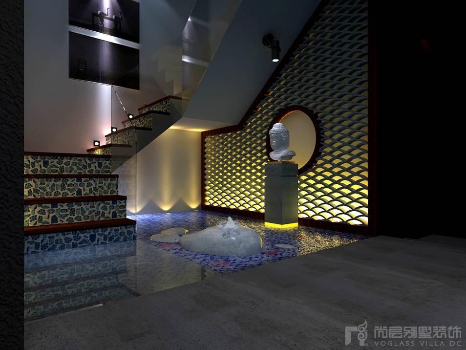天贵人和新中式水景别墅装修效果图