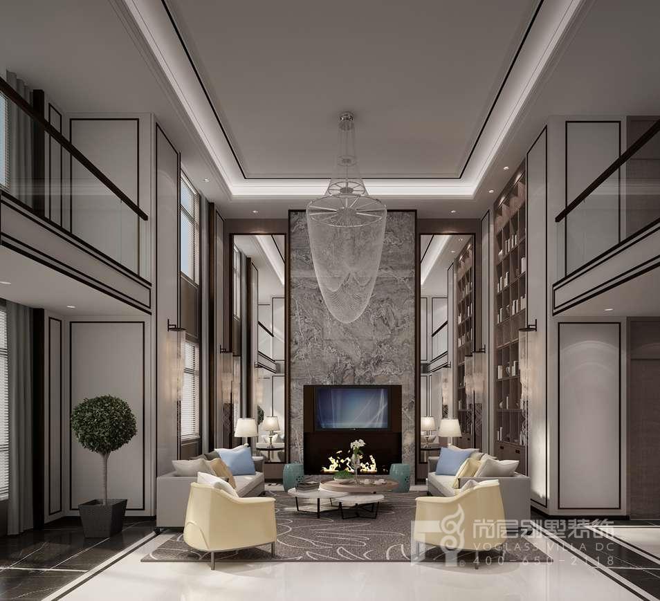 新中式客厅别墅装修效果图图片
