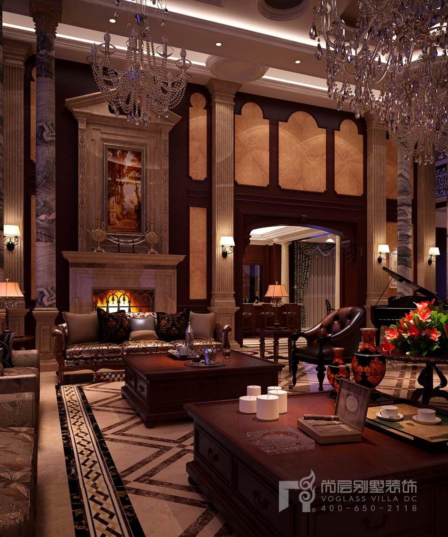 法式别墅装修客厅效果图