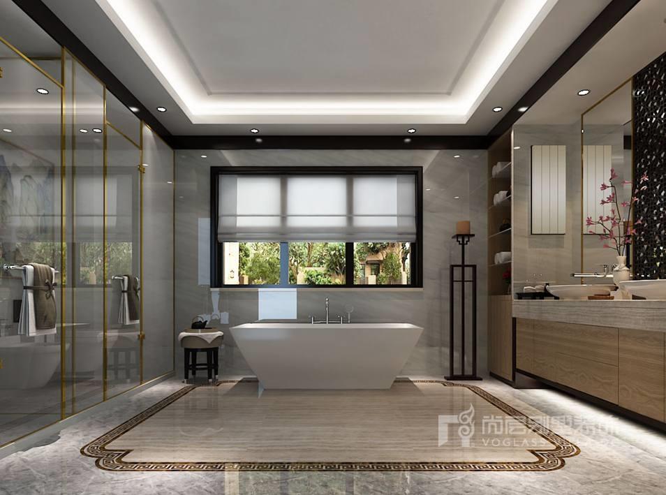 双珑原著新中式卫生间别墅装修效果图