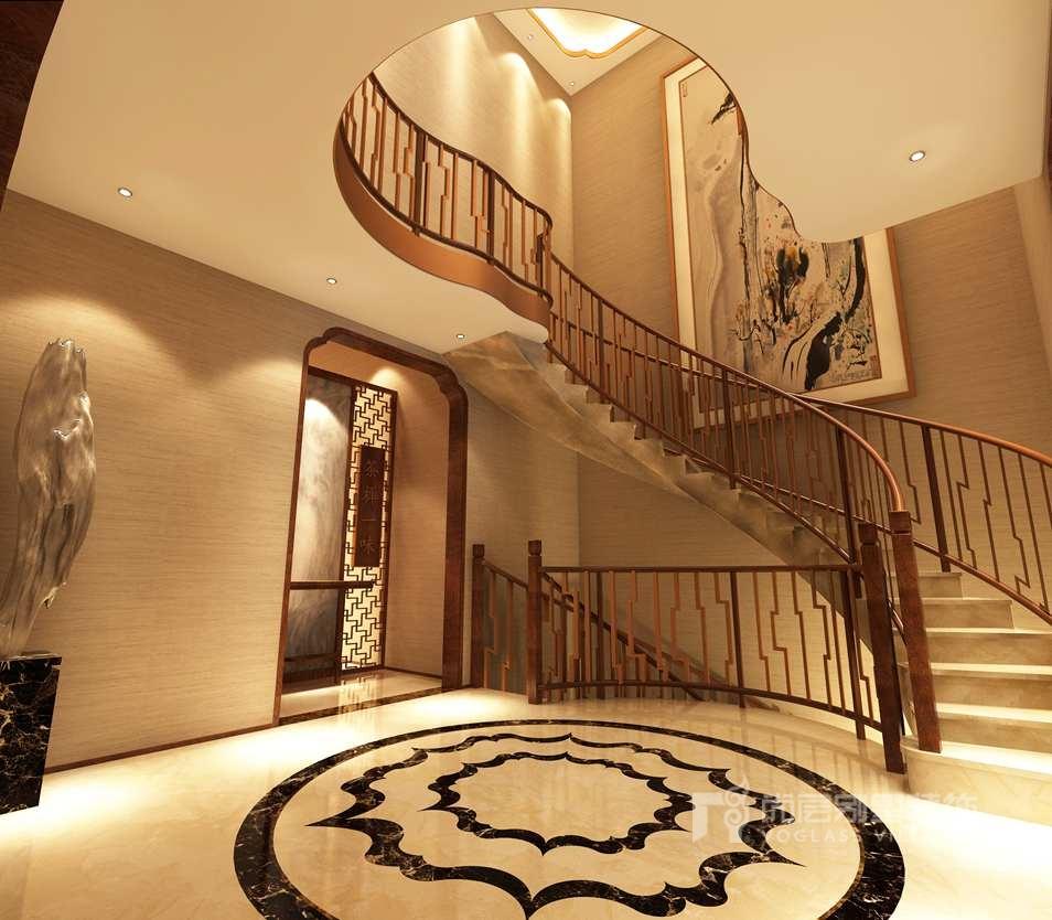 欧式楼梯顶天花效果图