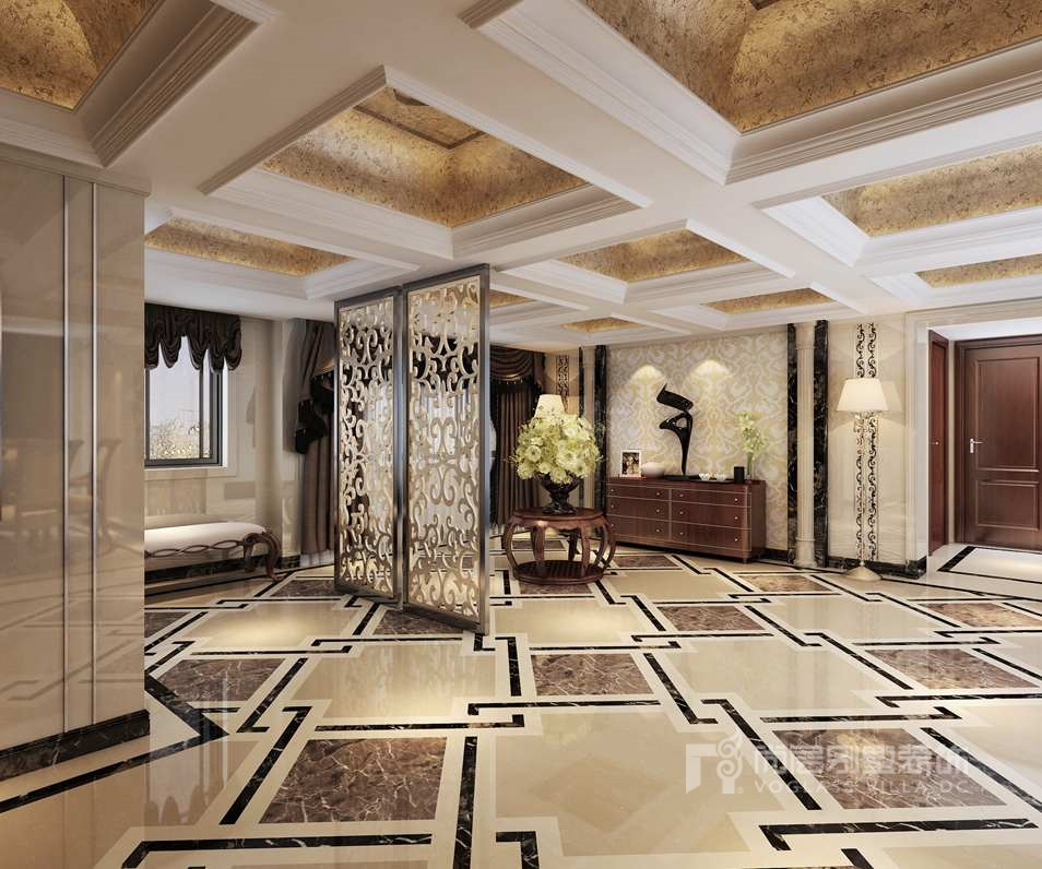 中海尚湖世家欧式门厅别墅装修效果图