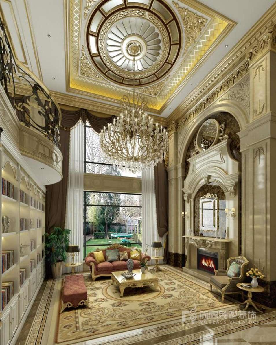 挑空欧式古典客厅吊顶
