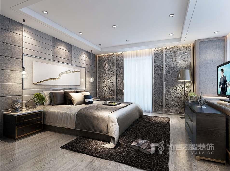 誉天下新中式卧室别墅装修效果图