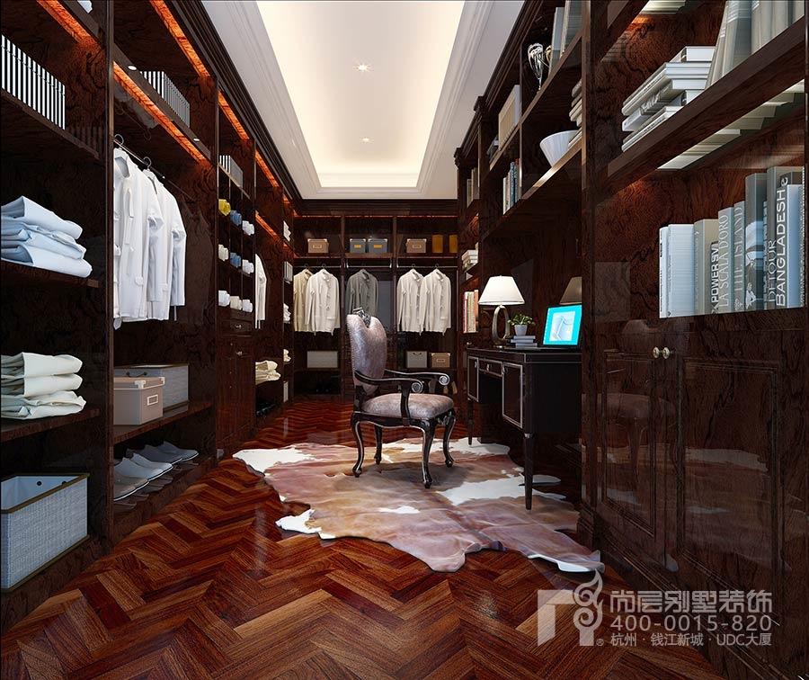 杭州尚层装饰小型别墅装修设计衣帽间