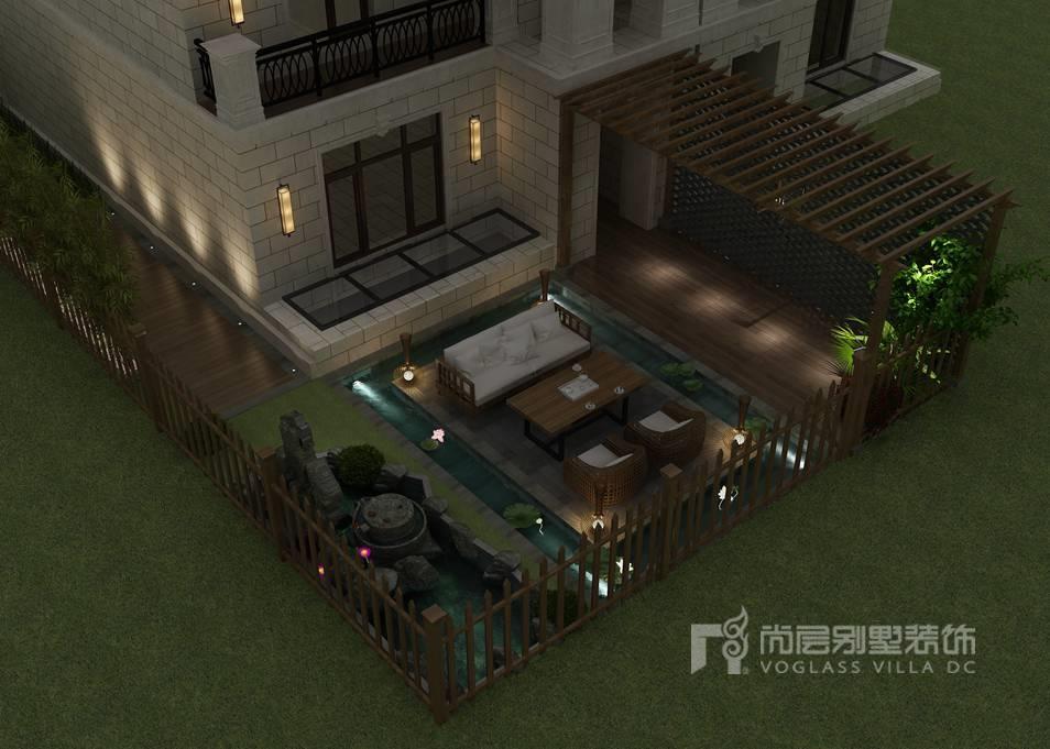 远洋天著新中式庭院别墅装修效果图