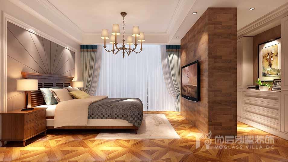 臻水岸简美风格卧室装修效果图