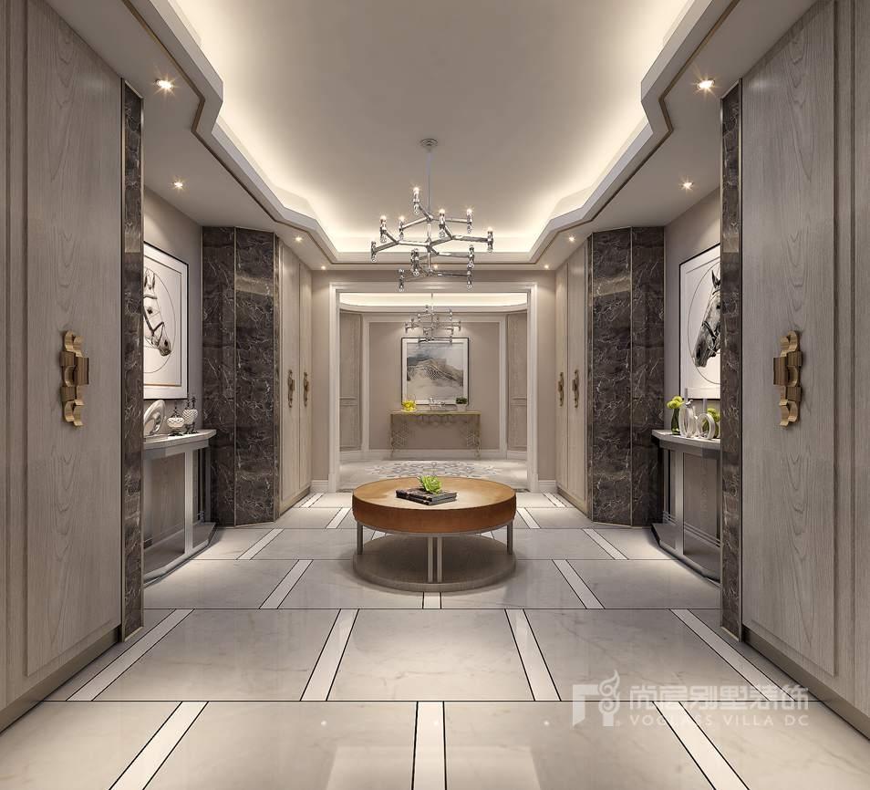 紫禁壹号院582平方米现代简约设计别墅装修案例_北京