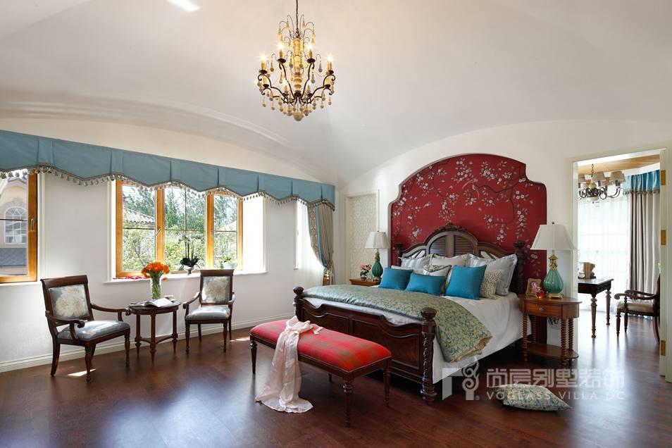 尚层装饰别墅装修方案卧室实景图