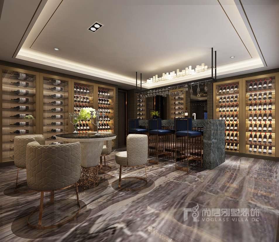 紫禁壹号院别墅新中式酒吧区装修效果图图片