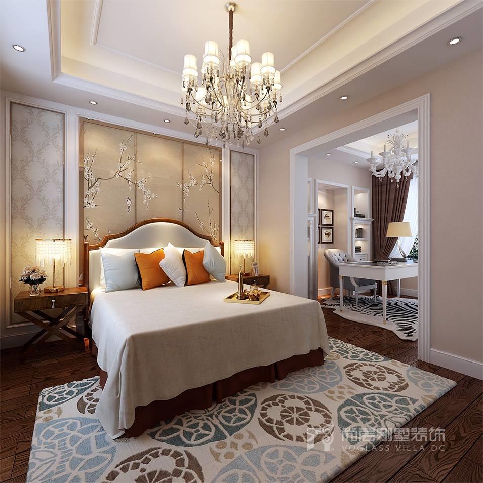新新逸墅现代美式次卧装修效果图